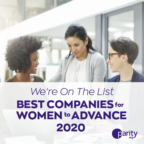 Very Named to Parity.org Best Companies for Women to Advance List