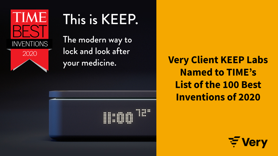 Very Client KEEP Labs Named to TIME's List of the 100 Best Inventions of 2020