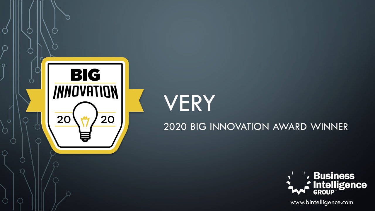 Very Wins 2020 BIG Innovation Award