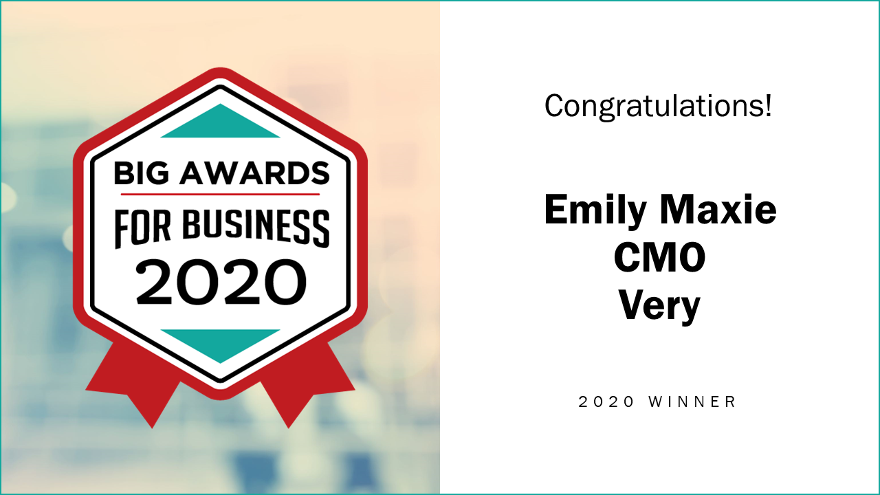 Very CMO Named 2020 Woman of the Year by BIG Awards