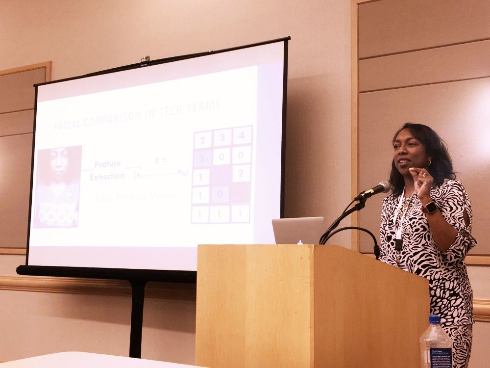 Kesha Williams spoke about facial recognition at the Scenic City Summit last month.